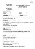 Compte rendu 28/05/ 2021